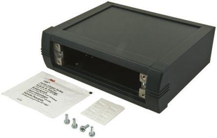 METCASE Mettec Grey Aluminium Project Box, 200 x 130 x 85mm
