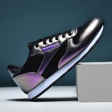 Men Color Block Lace-up Front Sneakers