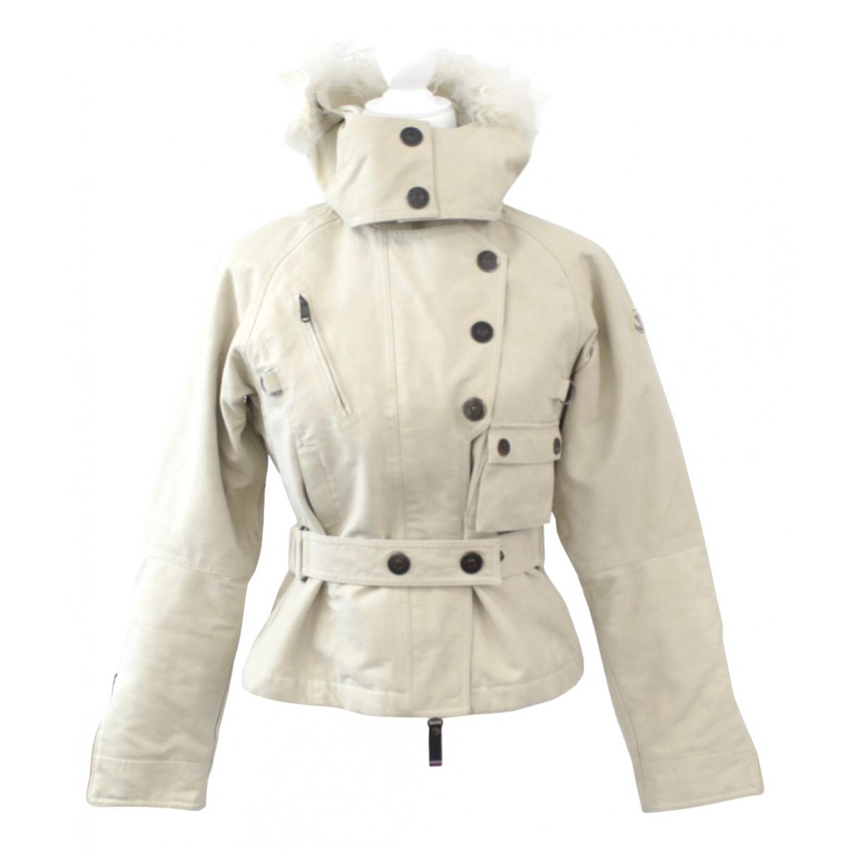 Moncler - Veste   pour femme en coton - blanc