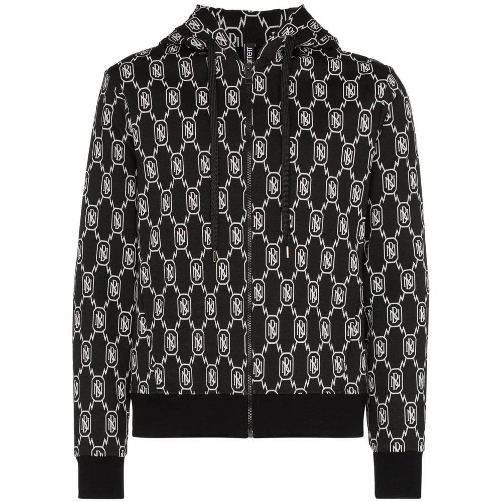 Neil Barrett Monogram Hoodie Colour: BLACK, Size: MEDIUM