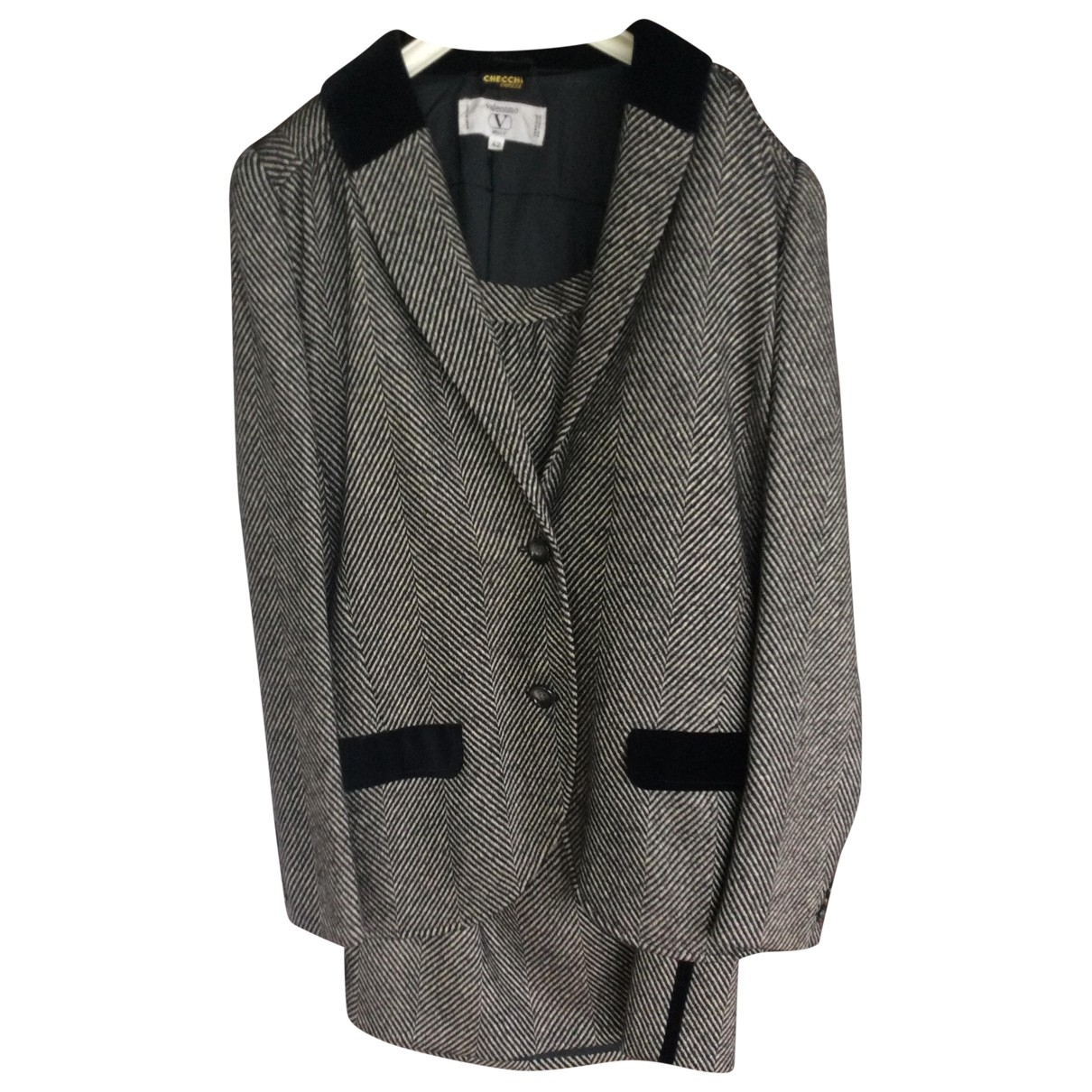 Valentino Garavani \N Black Wool jacket for Women 42 IT