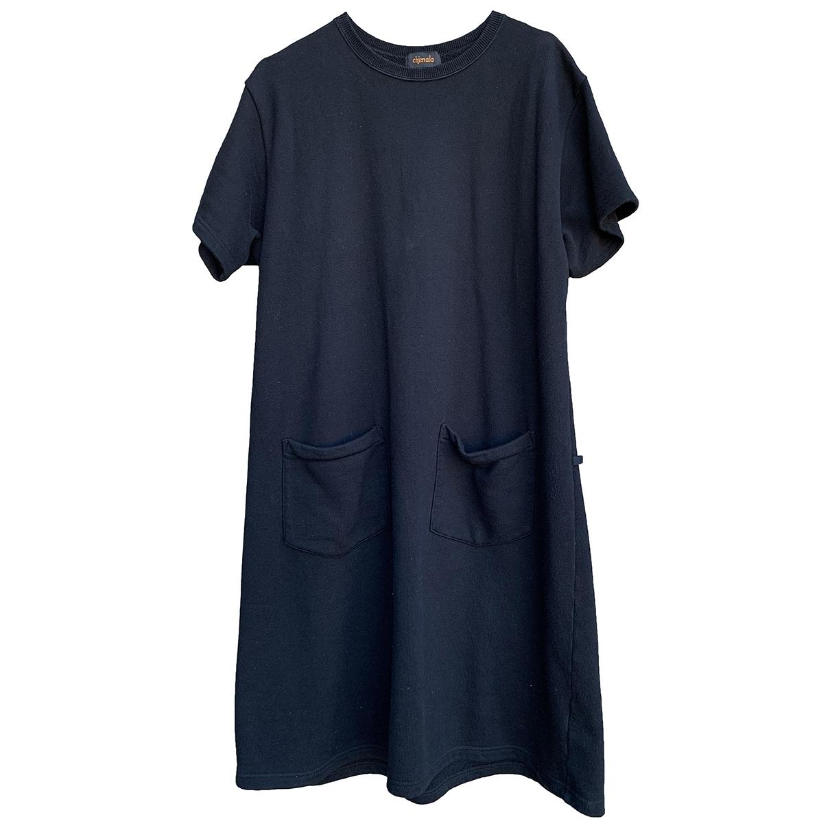 Chimala \N Kleid in  Schwarz Baumwolle