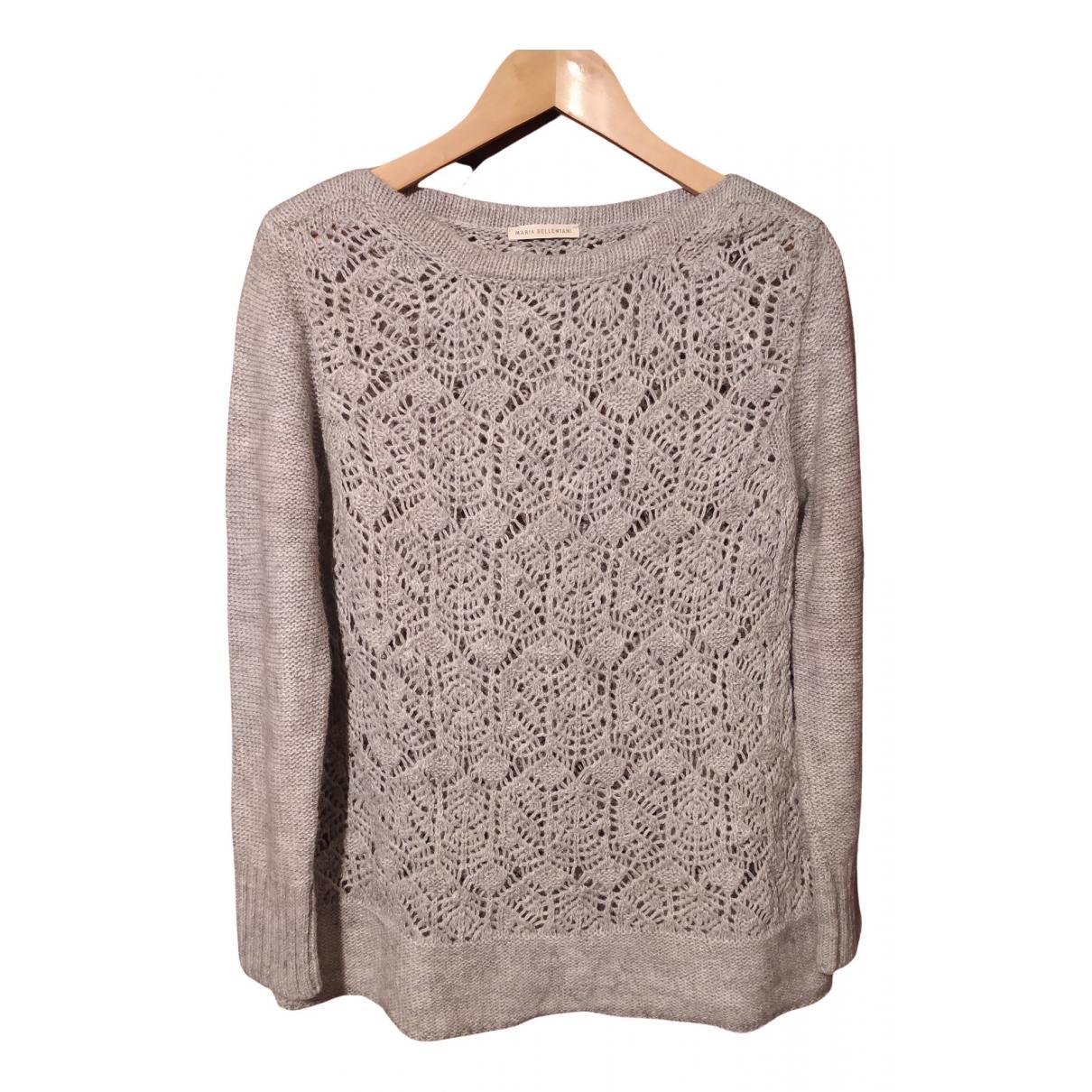 - Pull Crochet pour femme en laine - gris