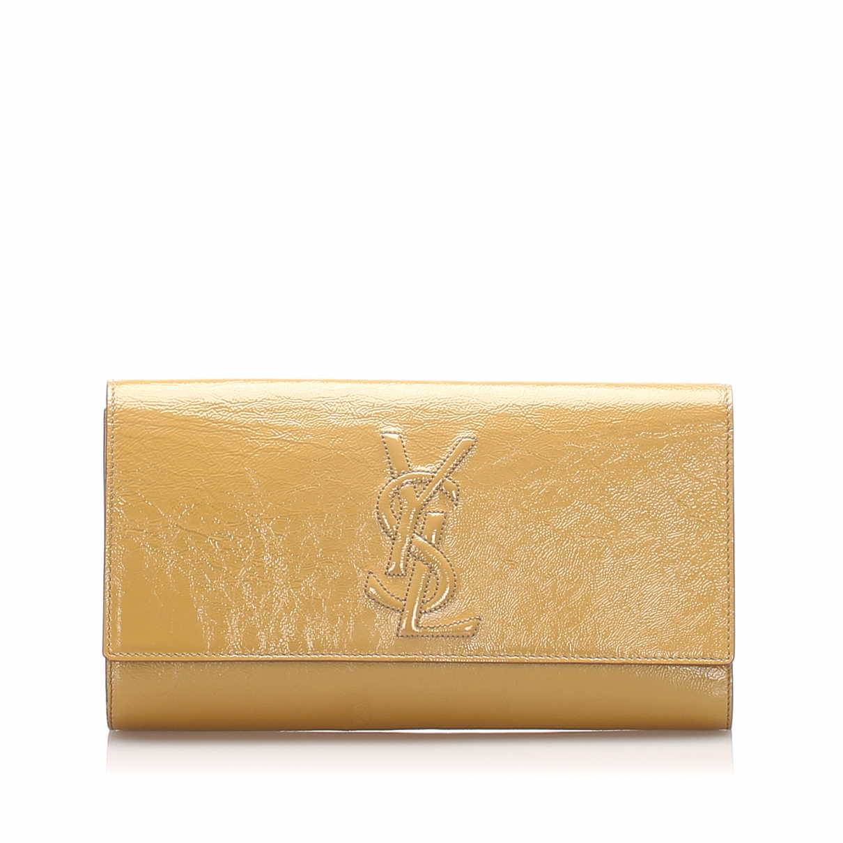 Yves Saint Laurent \N Clutch in  Braun Leder