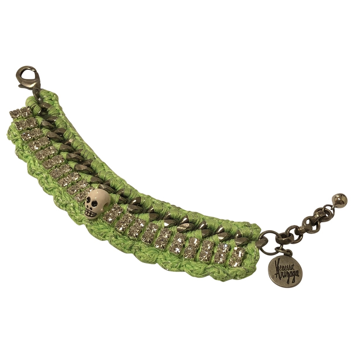 Venessa Arizaga - Bracelet   pour femme en toile - vert