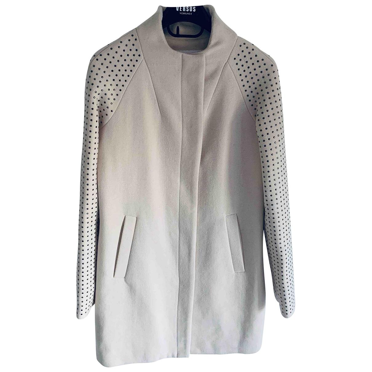 Non Signé / Unsigned \N Ecru Wool coat for Women XS International