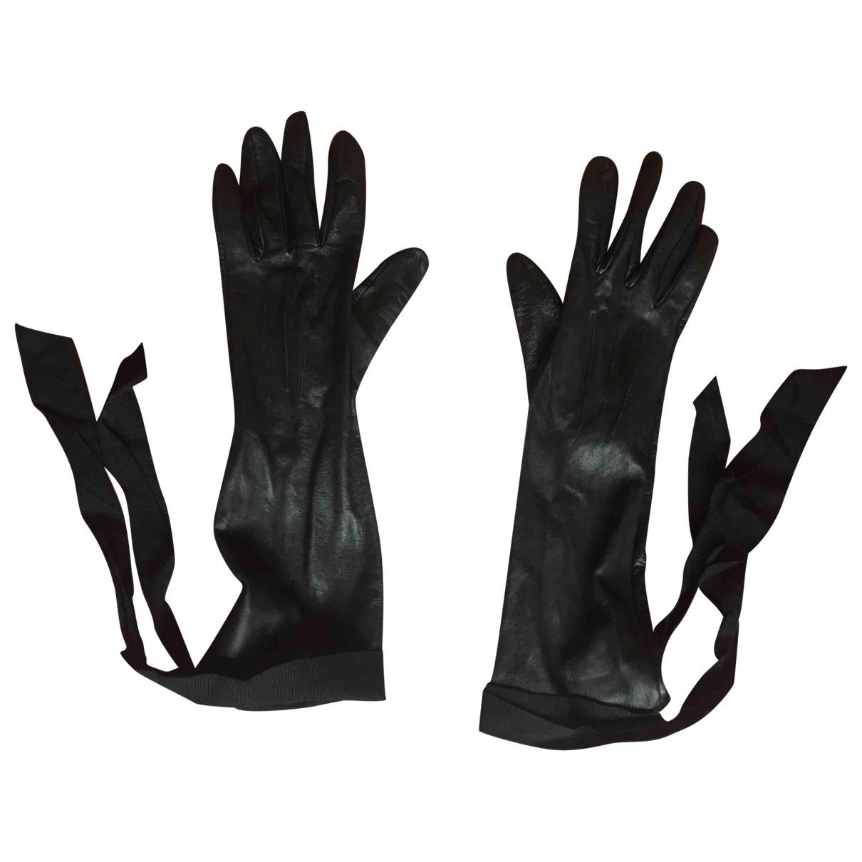 Lanvin For H&m \N Black Leather Gloves for Women M International