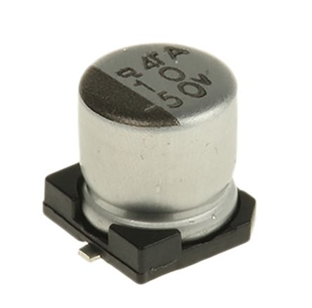 Nippon Chemi-Con 10μF Electrolytic Capacitor 50V dc, Surface Mount - EMVA500ADA100ME55G (25)