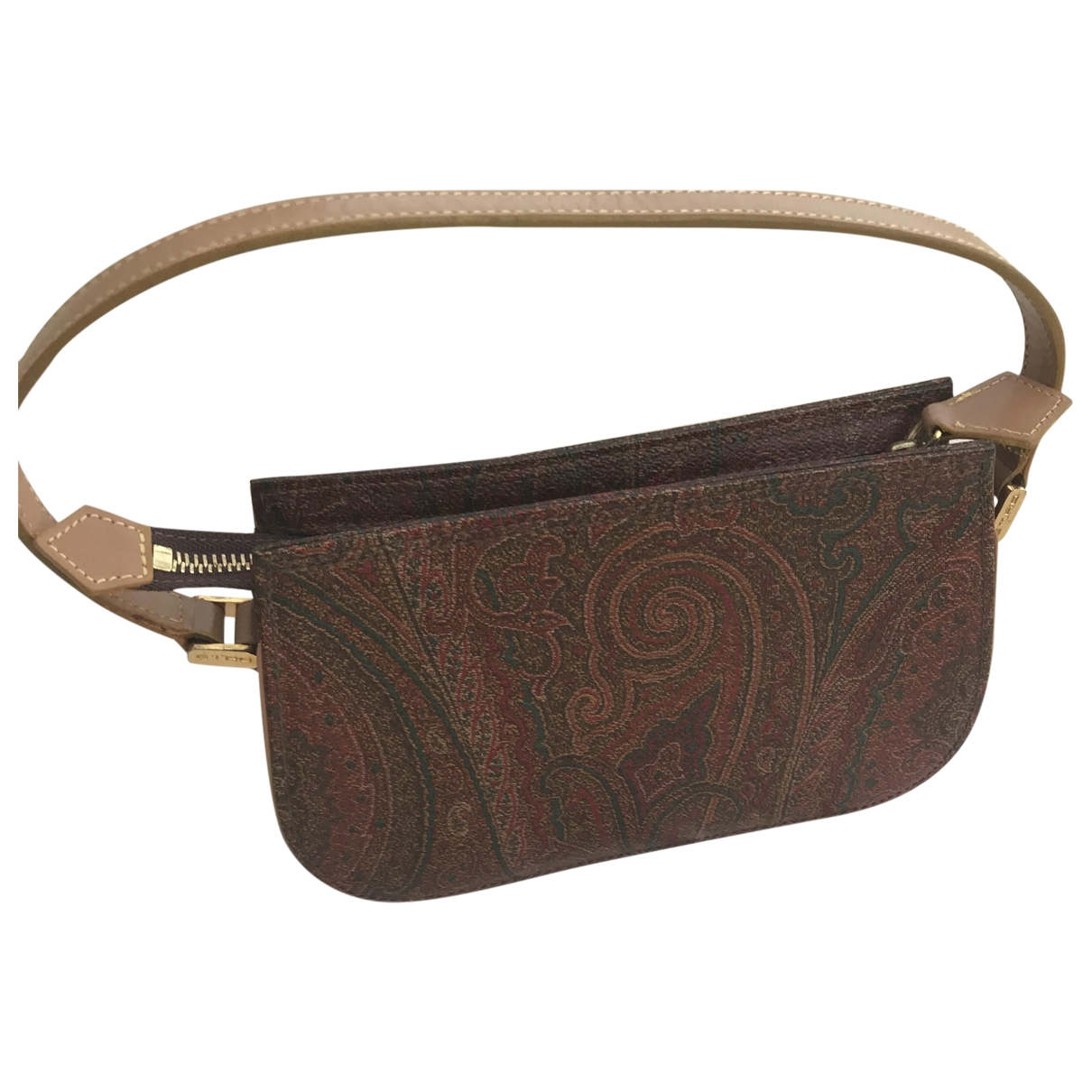 Etro \N Brown Cloth Clutch bag for Women \N