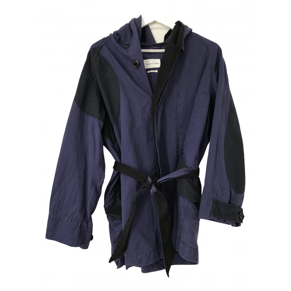 Isabel Marant Etoile - Trench   pour femme en coton - bleu