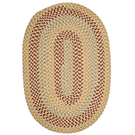 Colonial Mills Brook Farm Reversible Braided Indoor or Outdoor Oval Rug, One Size , Beige