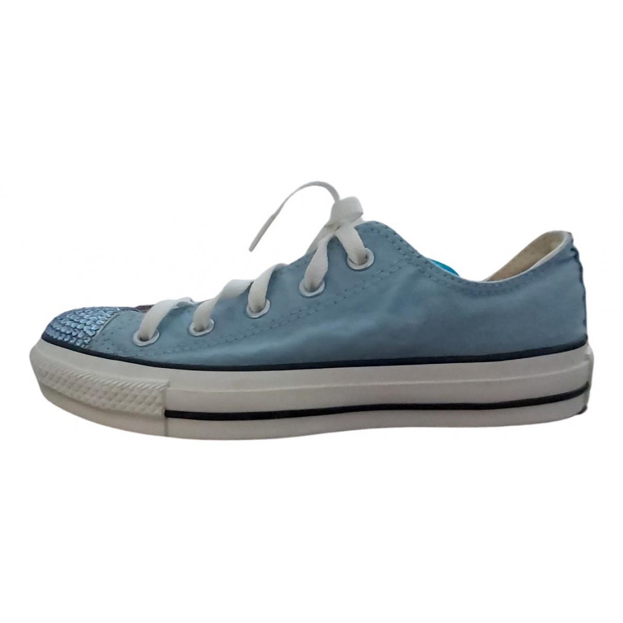 Converse \N Mokassins in  Blau Leinen