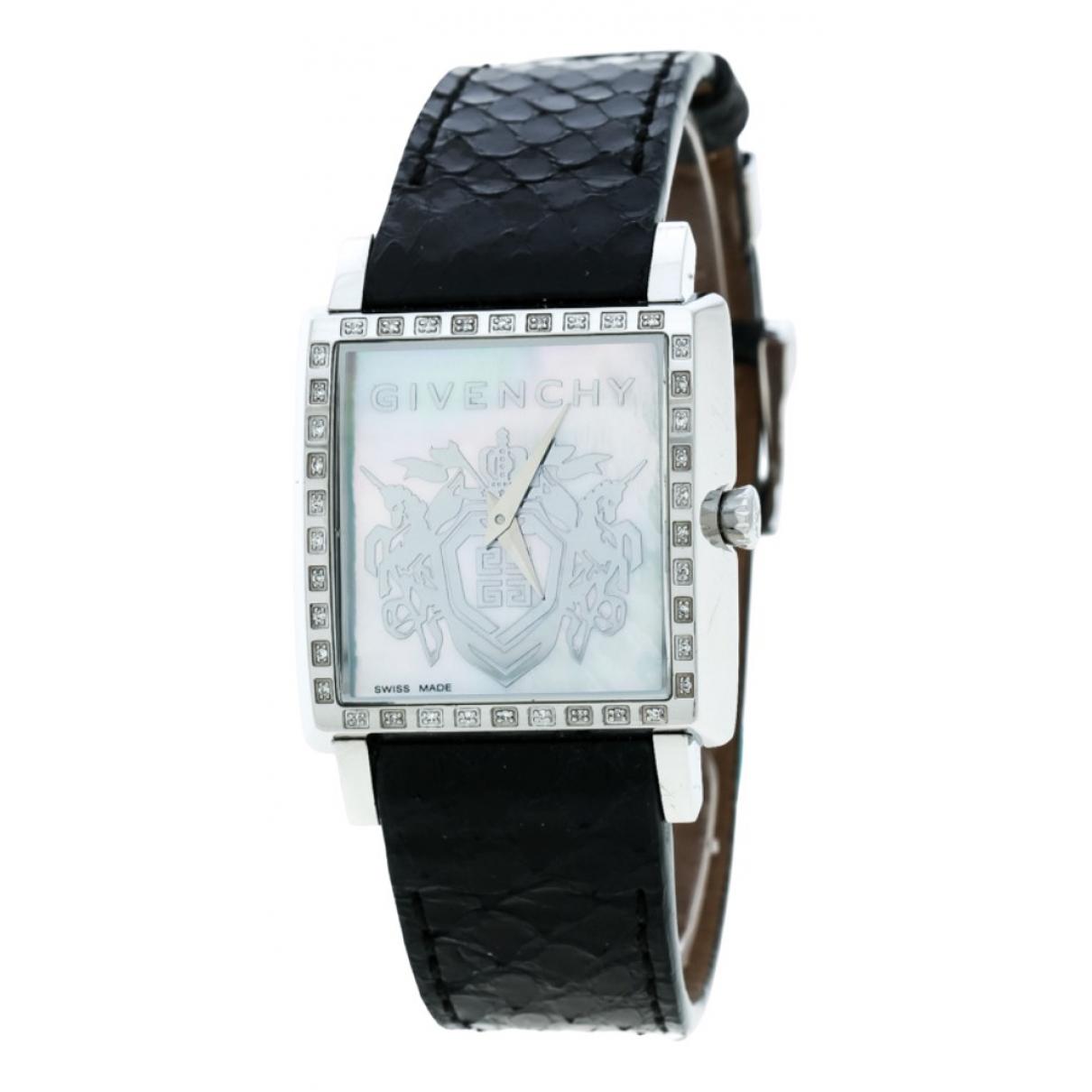 Givenchy \N Black Steel watch for Women \N