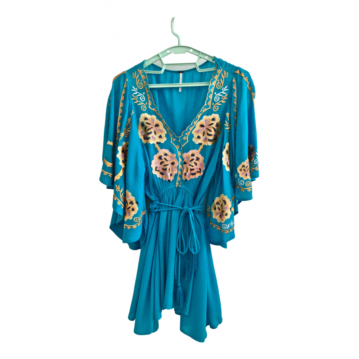 Free People - Robe   pour femme - turquoise