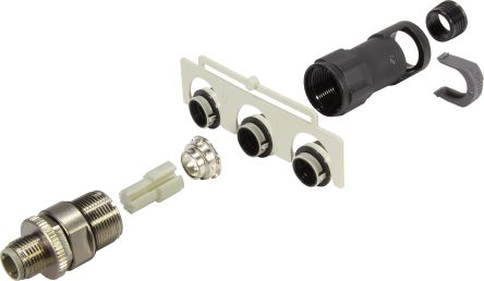 HARTING Connector, 4 contacts Cable Mount M12 Plug, Crimp IP65, IP67