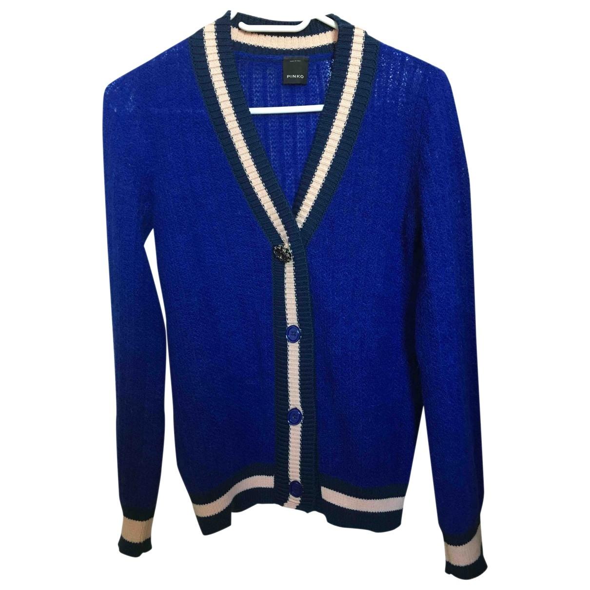 Pinko \N Blue Wool jacket for Women 38 IT