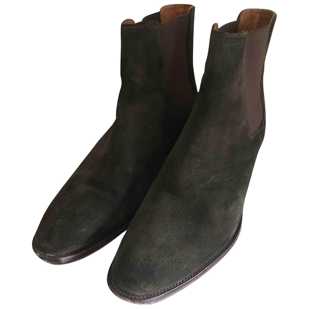 Frye \N Khaki Suede Ankle boots for Women 10 US