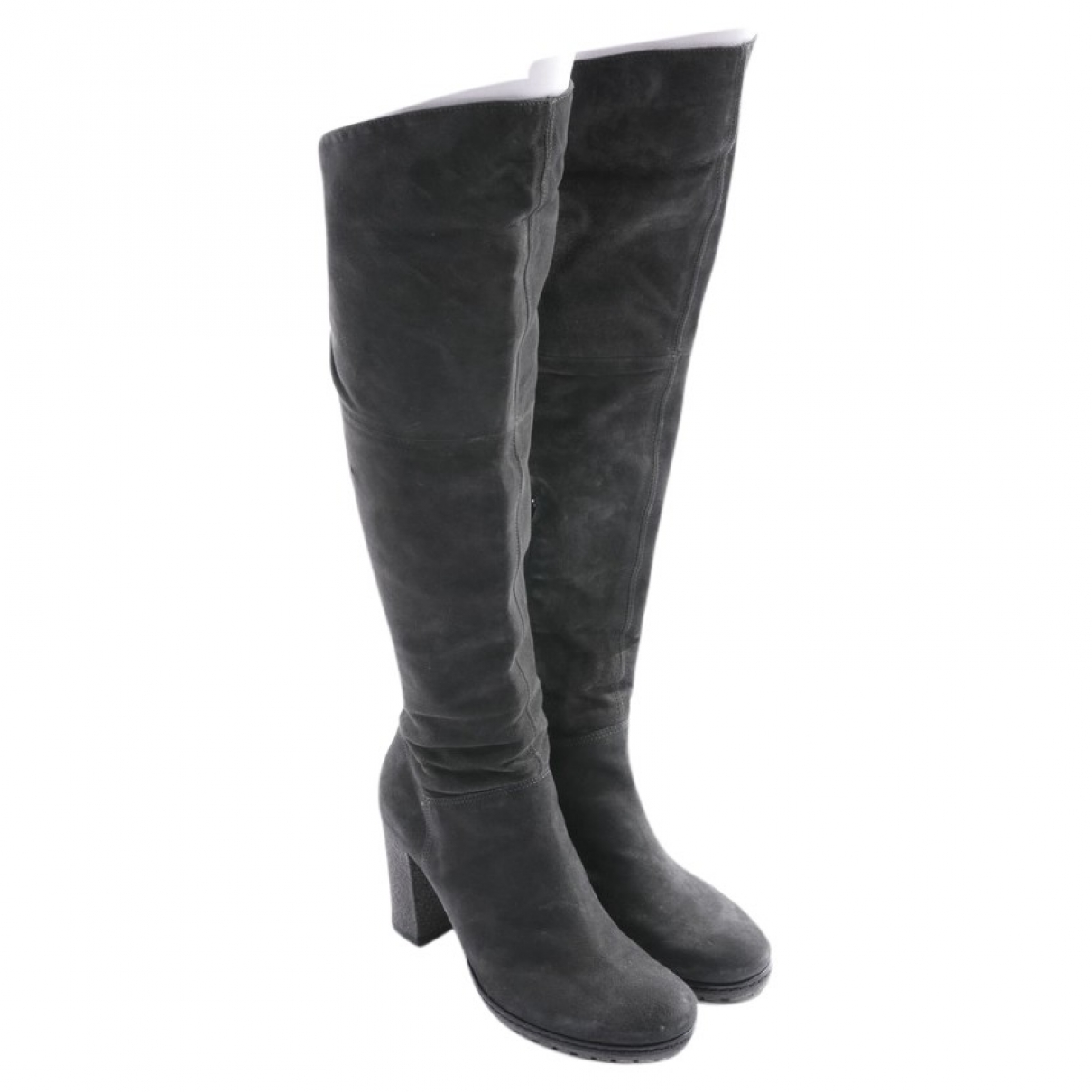 Vic Matié \N Grey Leather Boots for Women 38 EU