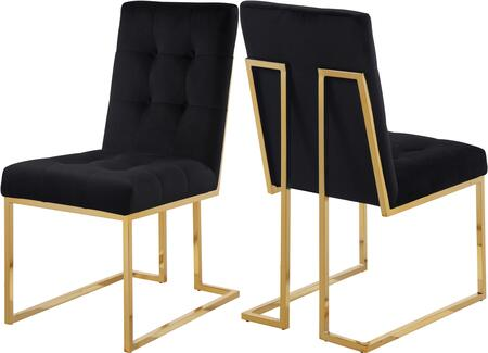 Pierre Collection 714Black-C Set of two Chairs 37