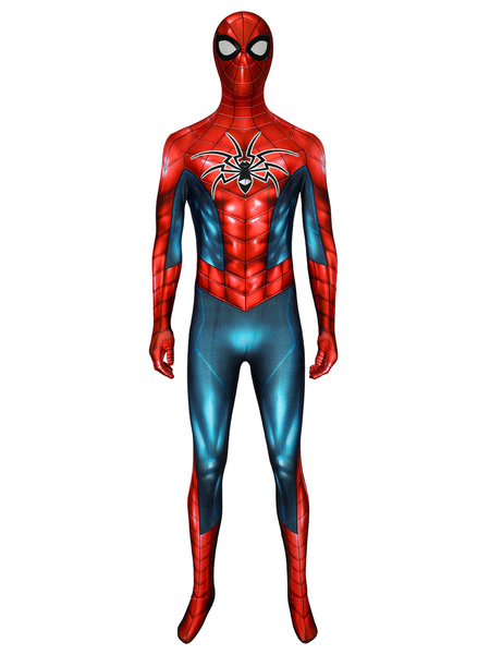 Milanoo Marvel Comics PS4 Marvel Spider Man Armour MK IV Zentai Jumpsuit Cosplay Costume