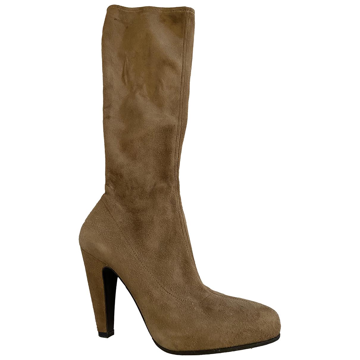 Prada N Brown Suede Boots for Women 36 EU