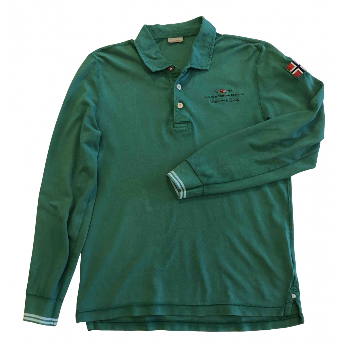 Napapijri - Polos   pour homme en coton - vert