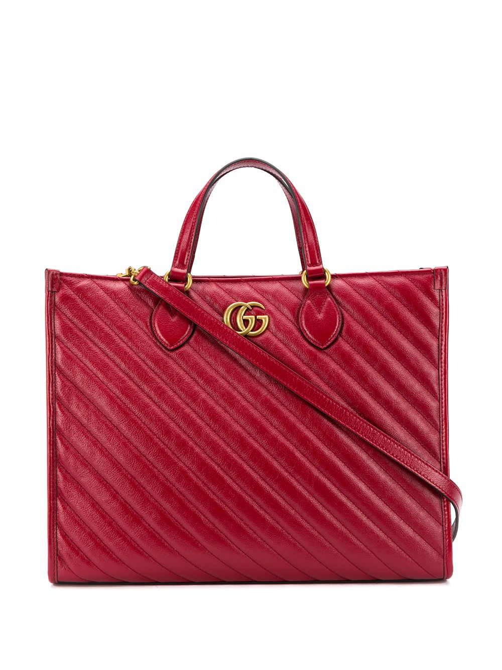 Gg Marmont Leather Shopping Bag