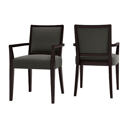 O'Neil Woven Dining Arm Chair 2-Pack, One Size , Green