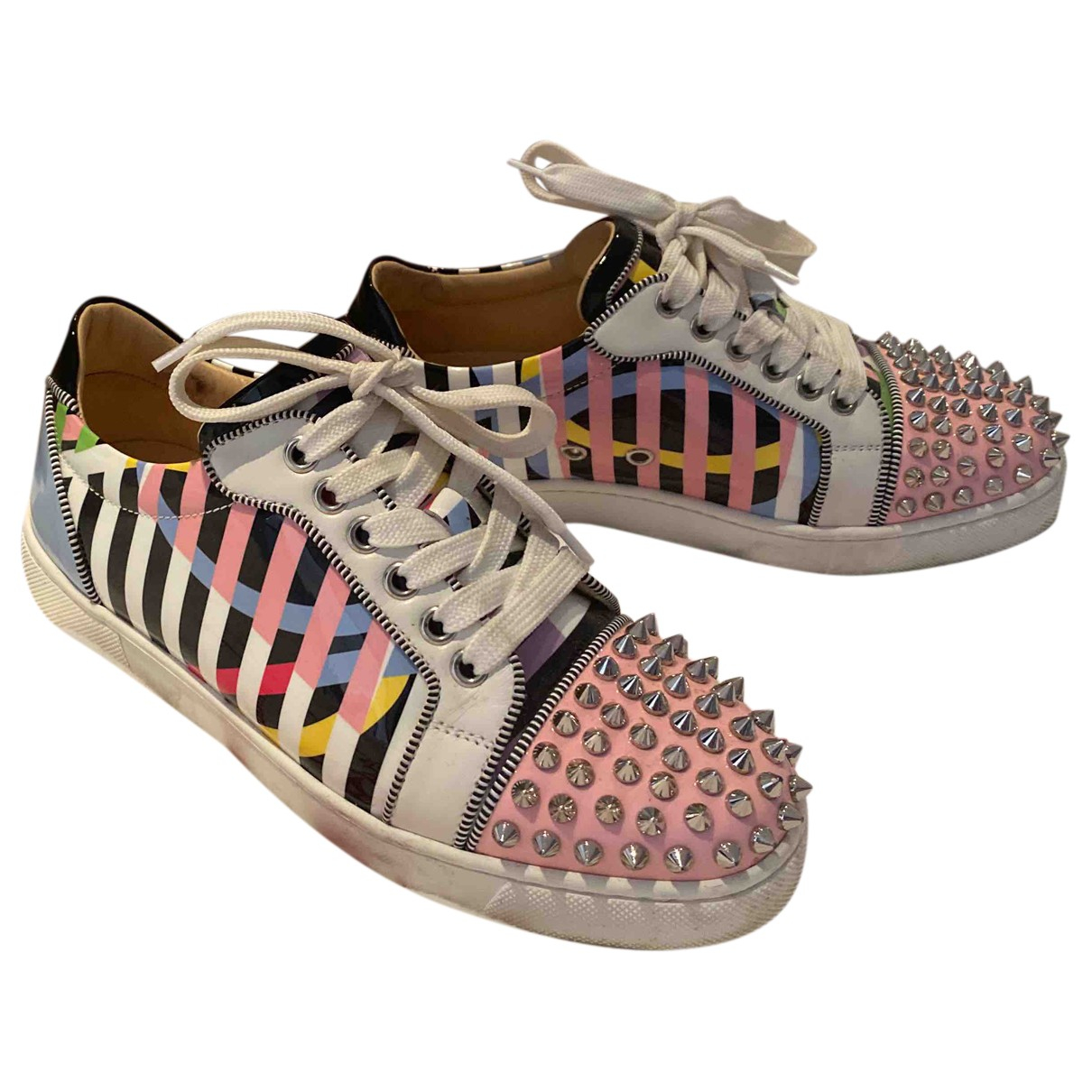 Christian Louboutin \N Pink Patent leather Trainers for Women 36 EU