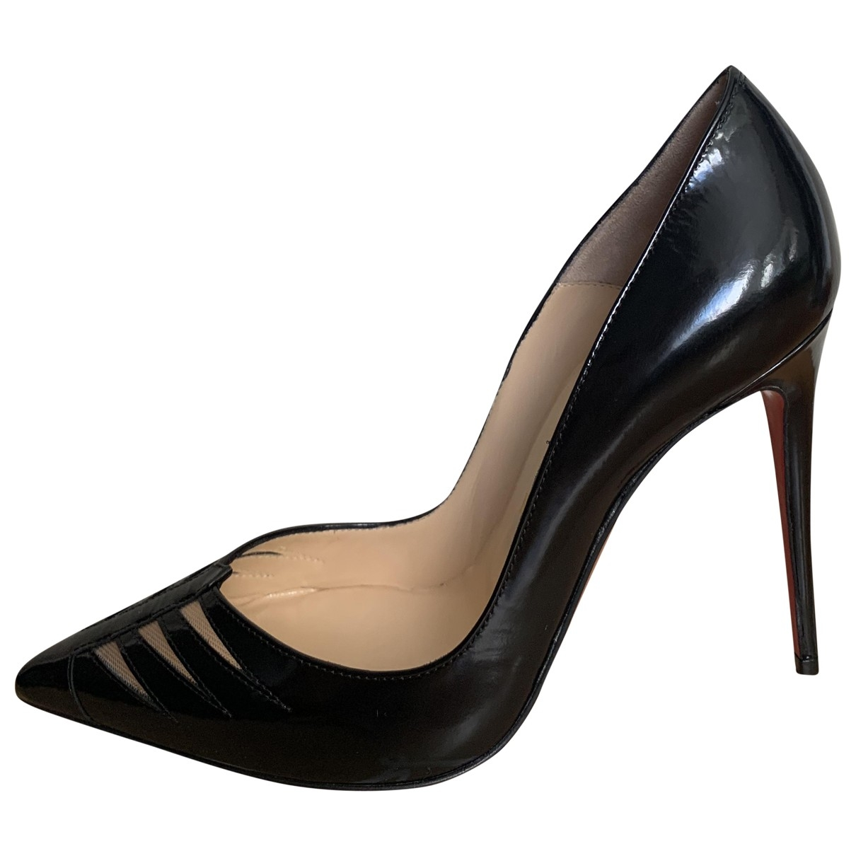 Christian Louboutin \N Black Patent leather Heels for Women 37 EU