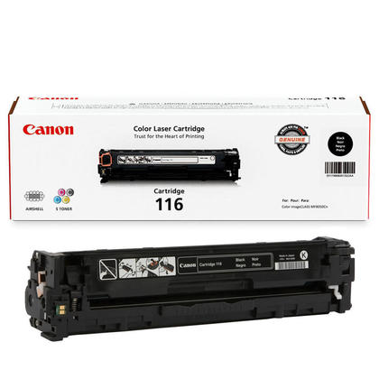 Canon 116BK 1980B001AA Original Black Toner Cartridge