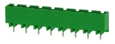 RS PRO , 8 Way, 1 Row, Straight PCB Terminal Block Header (10)