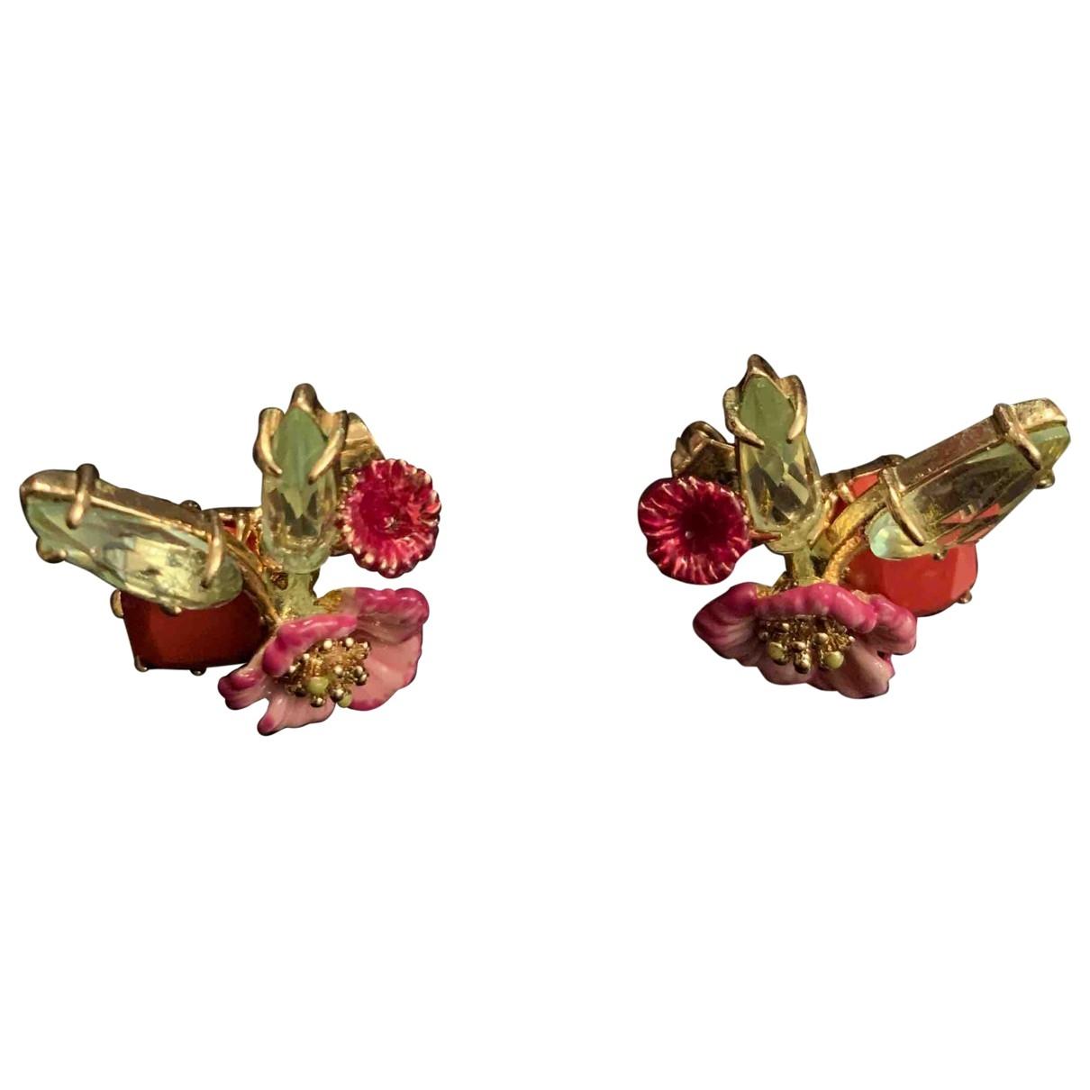 Les Nereides \N OhrRing in  Rosa Vergoldet