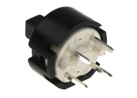 C & K Single Pole Single Throw (SPST) Momentary Push Button Switch, Through Hole, 32V dc (10)
