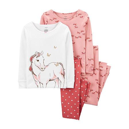 Carter's Little Girls 4-pc. Pajama Set, 6 , Pink