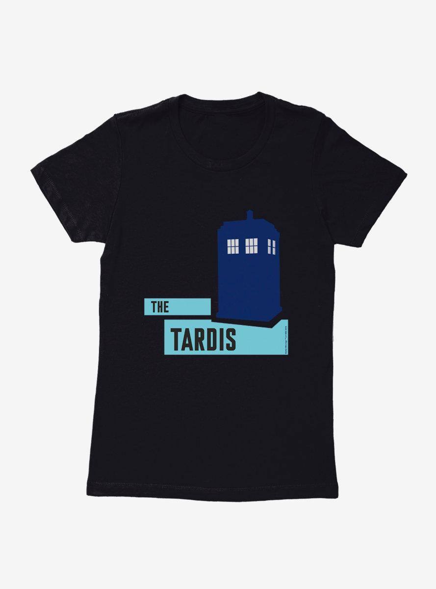 Doctor Who TARDIS Classic Silhouette Womens T-Shirt