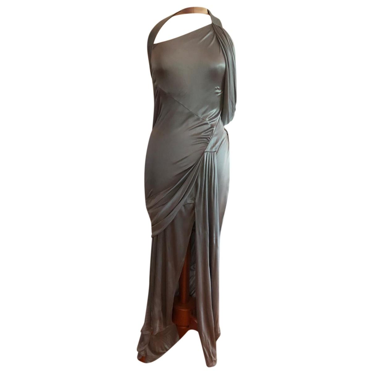 Lagerfeld Gallery \N Metallic Silk dress for Women 38 FR