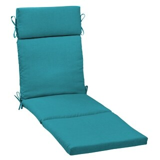 Arden Selections Outdoor 77 x 22 in. Chaise Lounge Cushion (Lake Blue Leala Texture - 72 in L x 21 in W x 2.5 in H)
