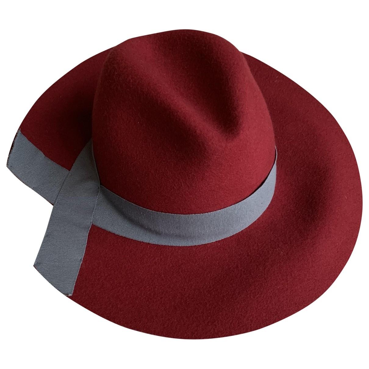 Emporio Armani \N Burgundy Wool hat for Women 57 cm