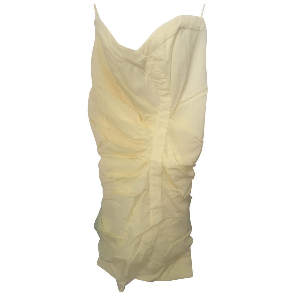 Alice & Olivia - Robe   pour femme en soie - jaune