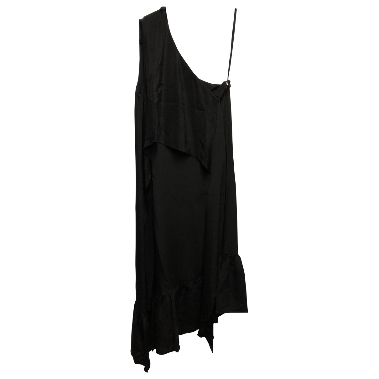 Tibi \N Black Silk dress for Women 2 US