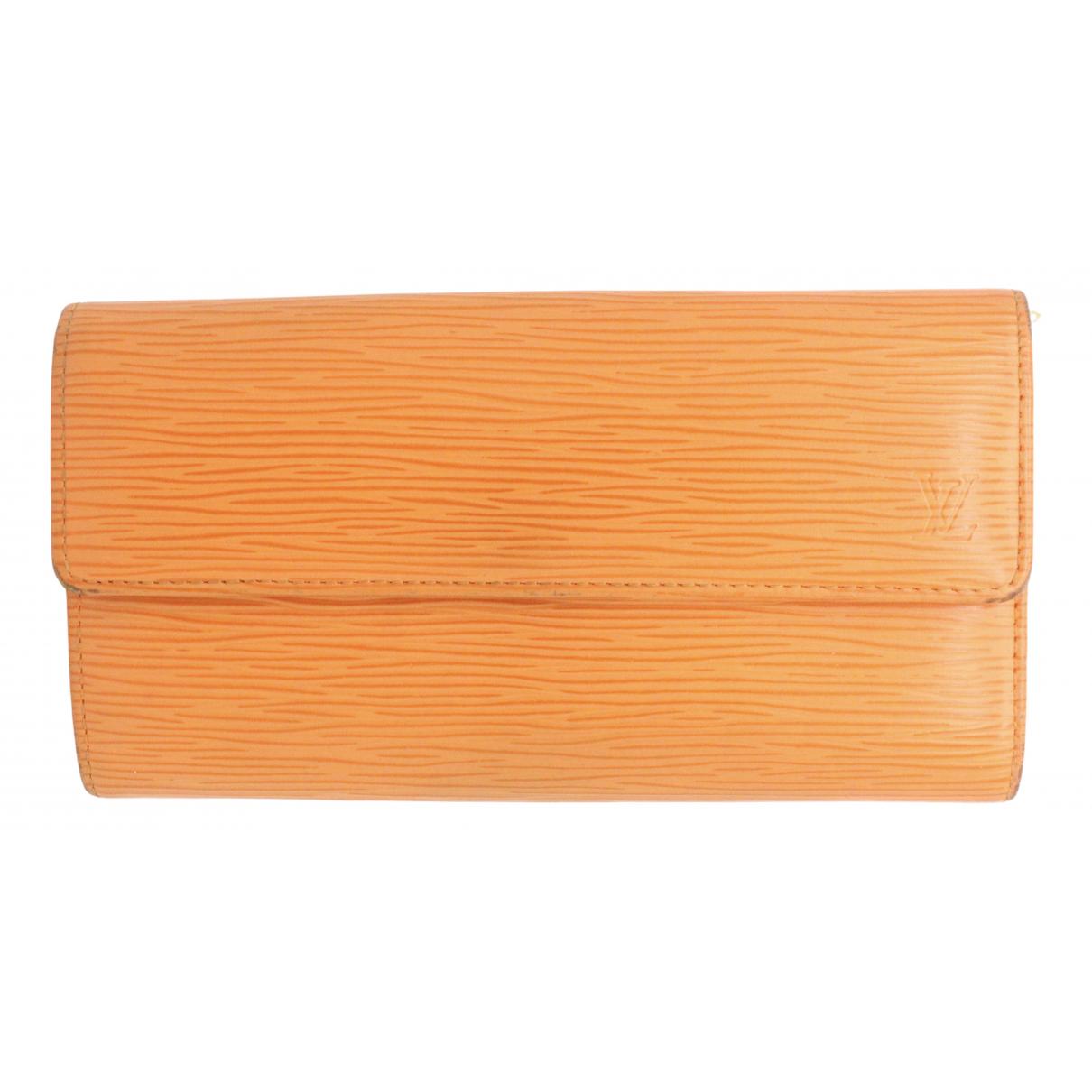 Louis Vuitton - Portefeuille Sarah pour femme en cuir - orange