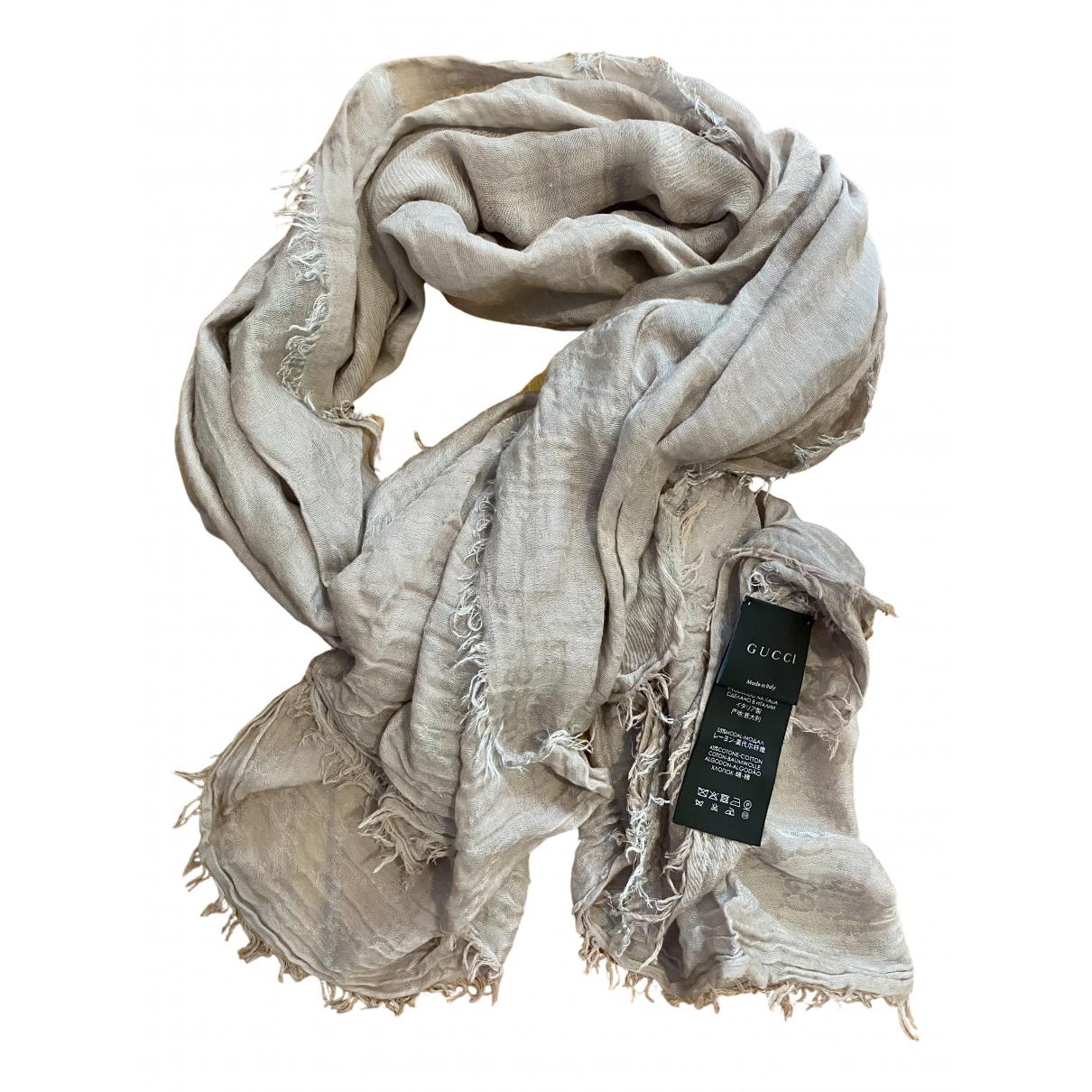 Gucci N Beige Cotton scarf for Women N