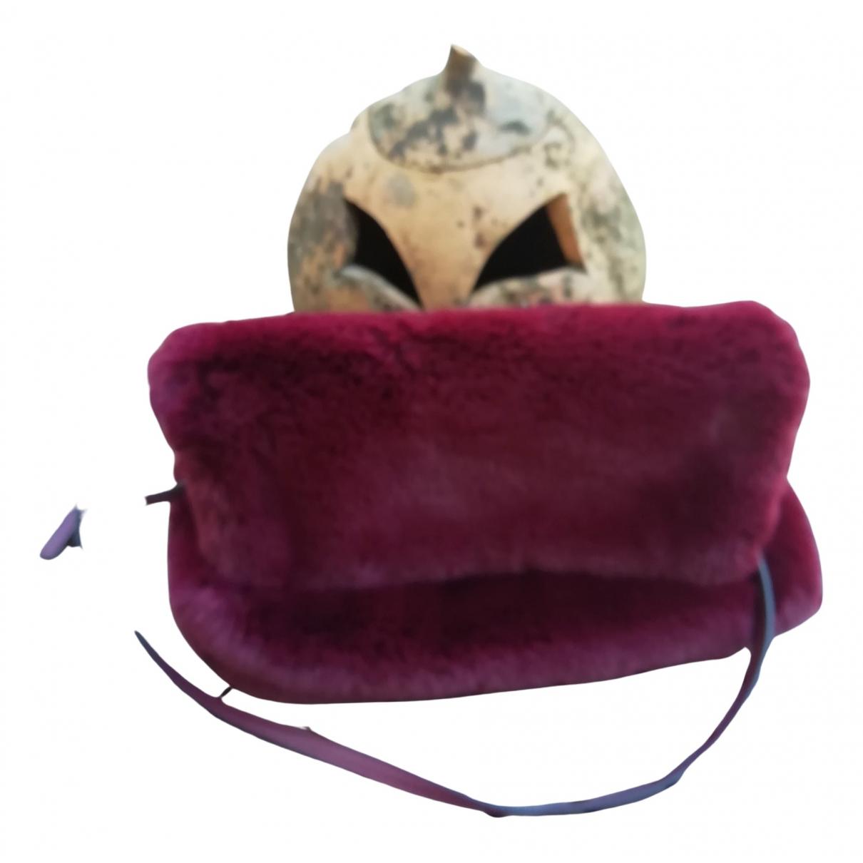 Mango \N Burgundy Faux fur handbag for Women \N