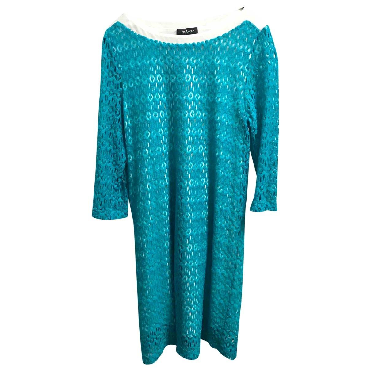 Byblos \N Kleid in  Tuerkis Baumwolle
