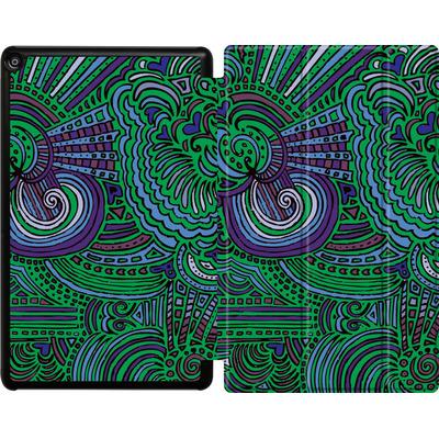 Amazon Fire HD 10 (2018) Tablet Smart Case - Drawing Meditation Green von Kaitlyn Parker