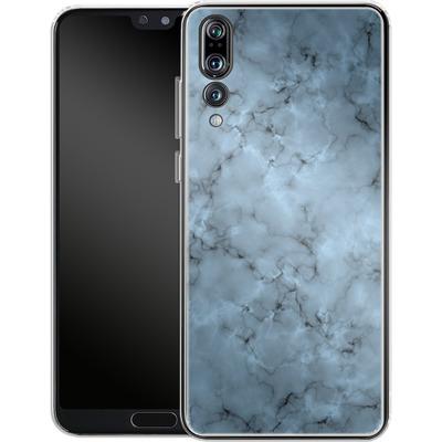 Huawei P20 Pro Silikon Handyhuelle - Blue Marble von caseable Designs