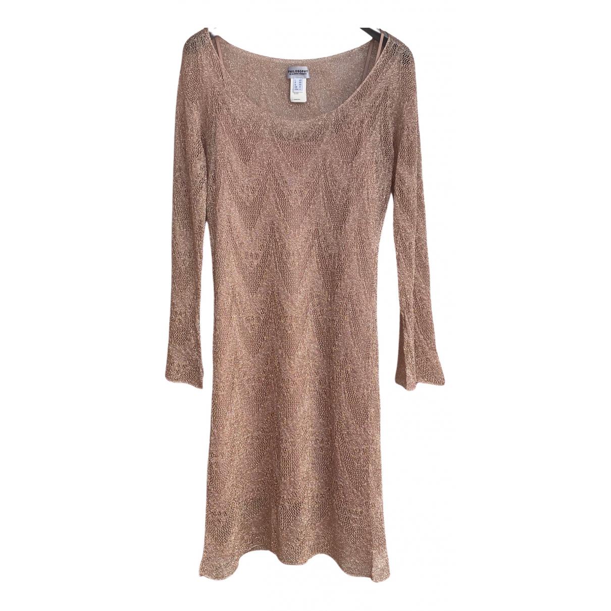 Philosophy Di Alberta Ferretti \N Kleid in  Gold Viskose