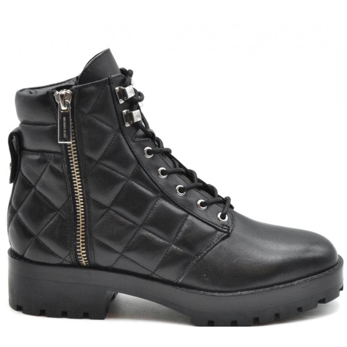 Michael Kors - Boots   pour femme en cuir - noir