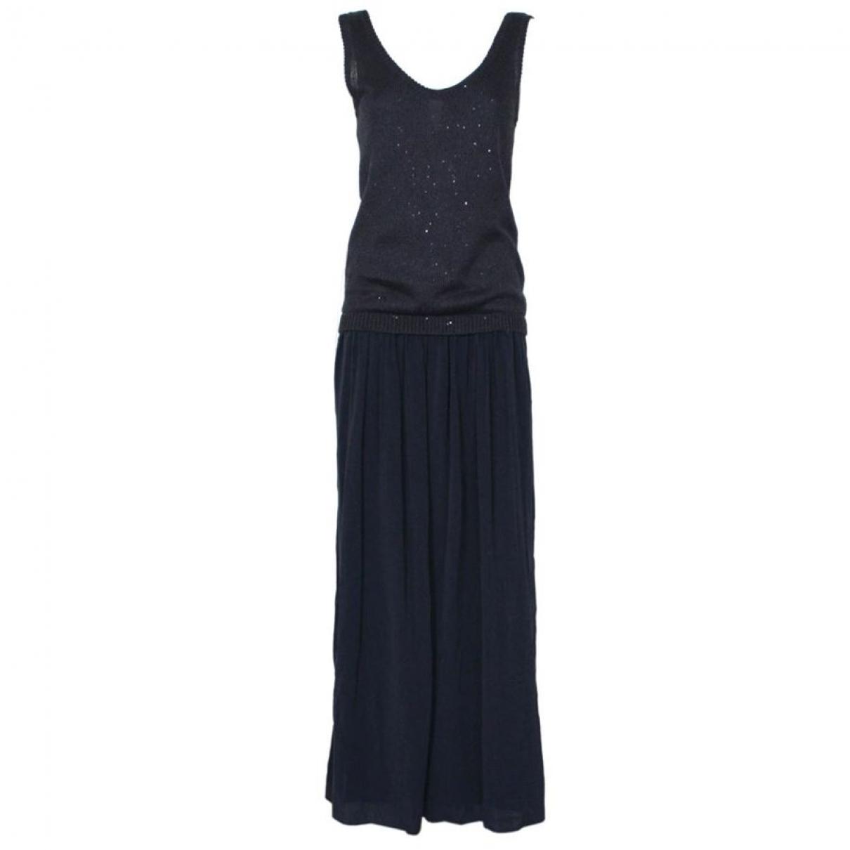 Brunello Cucinelli \N Kleid in  Grau Leinen